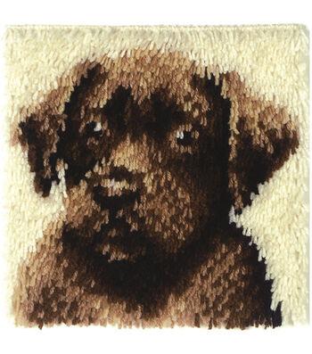 "Wonderart Latch Hook Kit 12""X12""-Chocolate Dog"