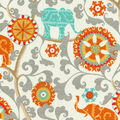 P/K Lifestyles Outdoor 8x8 Fabric Swatch-Menagerie/Cayenne