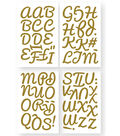 Iron-On Art Ultra-Glitter Letters-Gold