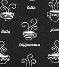 Snuggle Flannel Fabric 42\u0027\u0027-Coffee Types
