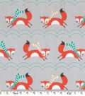 Novelty Cotton Fabric - Jumping Foxes