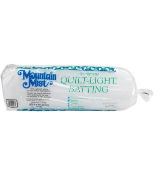 "Mountain Mist Quilt-Light Polyester Batting-Queen Size 90""X108"""