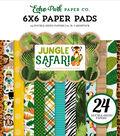 Double-Sided Paper Pad 6\u0022X6\u0022-Jungle Safari