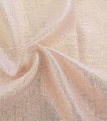 Metallic Textured Jacquard Fabric-Rose Gold