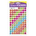 Happy Smiles superSpots Stickers 800 Per Pack, 12 Packs