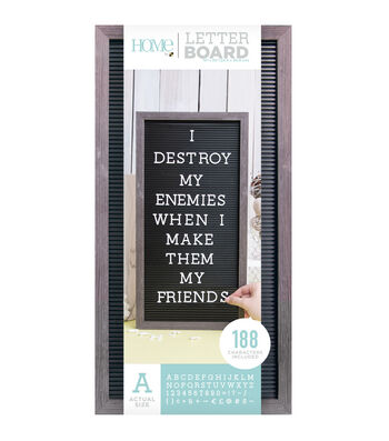 DCWV Home 10''x20'' Black Letter Board with 1'' White Letters