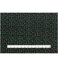 Christmas Cotton Fabric 43\u0022-Green Holly Dots