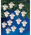 Holiday Beaded Ornament Kit-Littlest Angels 1.125\u0022 Makes 24