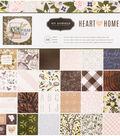 Pebbles Single-Sided Paper Pad 12\u0022X12\u0022-Jen Hadfield Heart Of Home