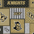 University of Central Florida Knights Fleece Fabric-College Patch
