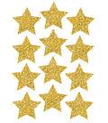 Die-Cut Magnets, 3\u0022 Gold Sparkle Stars, 12 Pieces Per Pack, 6 Packs
