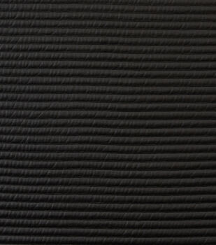 Cosplay Ribbed Pleather Fabric-Black