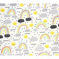 Super Snuggle Flannel Fabric-Happy Days Rainbow