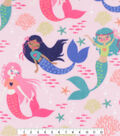 Anti-Pill Plush Fleece Fabric-Peaceful Mermaids