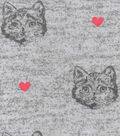 Luxe Flannel Fabric -Cat Gray Heather