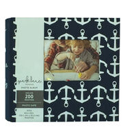 Park Lane 9.5''x8.5'' Photo Album-Anchors on Navy, , hi-res