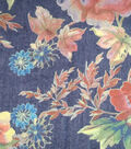 Denim Printed Fabric 57\u0027\u0027-Floral