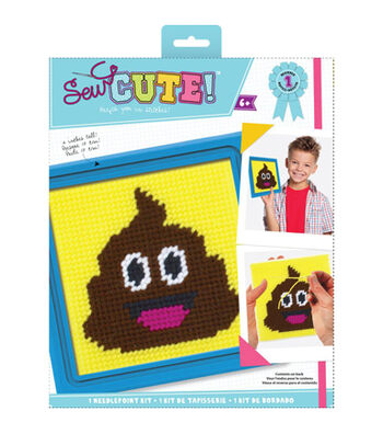 Sew Cute! Needlepoint Kit-Emoji Poo