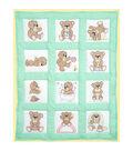 Stamped White Quilt Blocks 9\u0022X9\u0022 12/Pkg-Teddy Bears