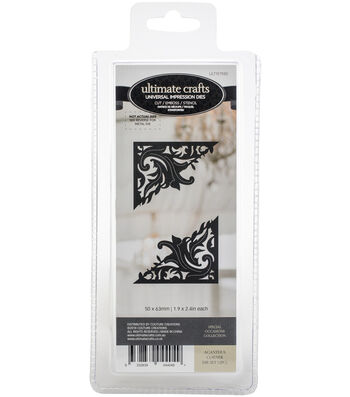 """Ultimate Crafts Special Occasions Die-Acanthus Corner 1.9""""X2.4"""""""