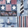 Patriotic Cotton Fabric 43\u0027\u0027-Patriotic Beachside