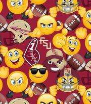 Florida State University Seminoles Cotton Fabric 43''-Emoji, , hi-res