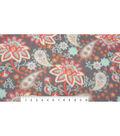 Anti-Pill Fleece Fabric 59\u0022-Mint Coral Paisley