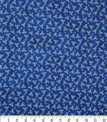 "Hanukkah Cotton Fabric 43""-Hanukkah On Blue"