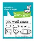 Lawn Fawn Clear Stamps 3\u0022X2\u0022-Get Well Soon