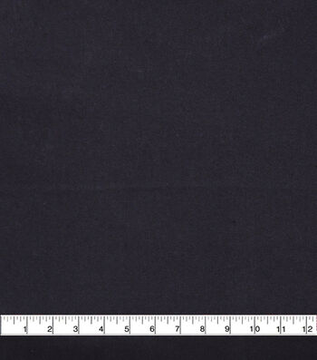 """Flannel Shirting Fabric 42""""-Solid Black"""