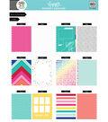 The Happy Planner Happy Memory Keeping  24 pk Big Cardstock Pad-Brights
