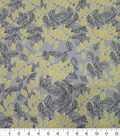 Quilter\u0027s Showcase Cotton Fabric-Leaves Sketched Yellow Gray