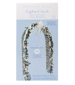 Darice 8'x4' Lighted Decorative Arch-White