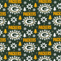 Green Bay Packers Christmas Flannel Fabric-Holiday