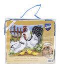 Vervaco Cushion Latch Hook Kit 16\u0027\u0027x16\u0027\u0027-Chicken Family On A Farm