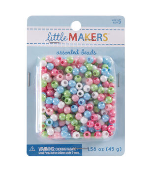 Little Makers 1.58 oz. Small Round Beads-Multi Pastel