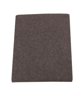 "Felt Furniture Pads 4.5"" X 6"" 2 Count-Brown"