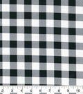 Christmas Cotton Fabric-Black & White Buffalo Check