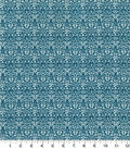 Quilter\u0027s Showcase Cotton Quilt Fabric -Damask Teal