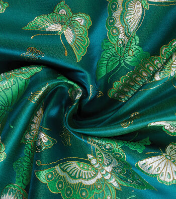 Yaya Han Cosplay Brocade Fabric 58''-Emerald Choo Butterfly