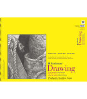 Strathmore 300 Series 25-sheet 18''x24'' Wire Bound Drawing Paper Pad, , hi-res