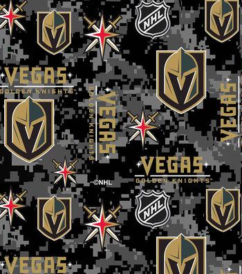 Vegas Golden Knights Fleece Fabric-Digital Logos