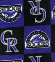 "Colorado Rockies Fleece Fabric 58""-Block, , hi-res"