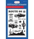 Carta Bella Stamp 4\u0022X6\u0022-Cartopia, Route 66