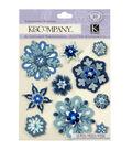 K&Company Christmas 10 pk Dimensional Stickers-Snowflakes