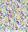 Spring Sheen Stretch Chiffon Fabric -Cool Floral