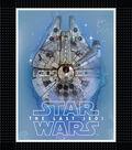 Star Wars VIII No Sew Fleece Throw 48\u0022-The Last Jedi Millennium Falcon