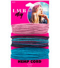 LaurDIY 3 pk 40 yds Hemp Cords-Pink, Multi & Blue