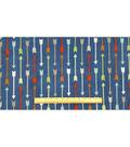 Anti-Pill Fleece Fabric 59\u0022-Survivalist Arrows Navy