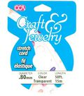 Cousin Craft & Jewelry .80mm  Stretch Cord-50ft/Clear